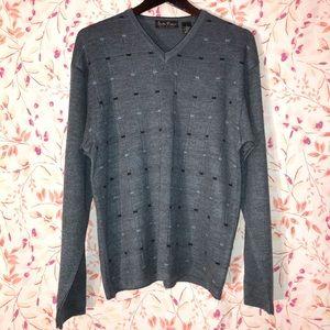 Men's Italian Studio Romeo Wool Blend Sweater-Lg